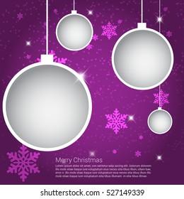 Christmas Purple Greeting card