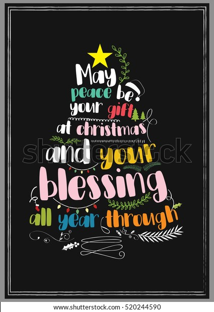 Peace Christmas Quotes.Christmas Quote May Peace Be Your Stock Vector Royalty Free