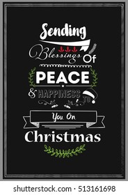 Christmas Quote. Sending blessings of peace and happiness to you on christmas.