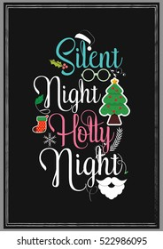 Christmas Quote. Silent night Holly night.