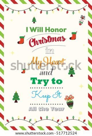 christmas quote i will honor christmas in my heart and try to keep it all - Christmas In My Heart