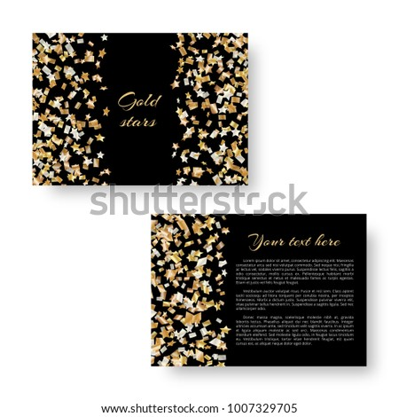 christmas radiant mockup invitation party falling stock vector