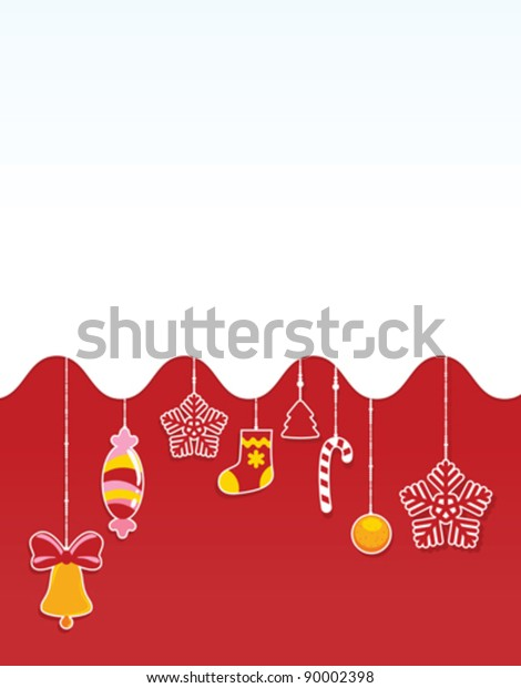 Christmas Red Card Space Copypaste Stock Vector Royalty Free