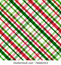 Christmas Red Green White Line Pattern Background Illustration