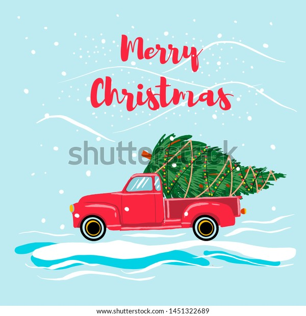 Christmas Red Truck Christmas Tree Cartoon Stock Vector Royalty Free 1451322689 Search, discover and share your favorite tree truck gifs. https www shutterstock com image vector christmas red truck tree cartoon style 1451322689