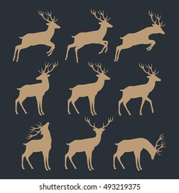 christmas reindeer silhouettes