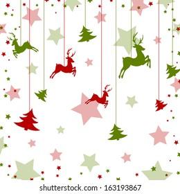Christmas reindeer - vector