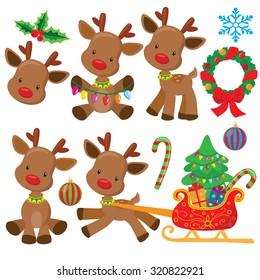 Christmas reindeer vector illustration