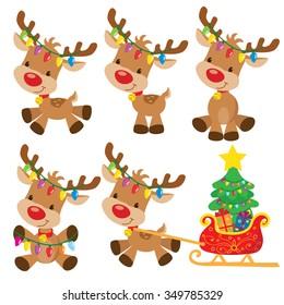 christmas reindeer vector illustration - Christmas Reindeer