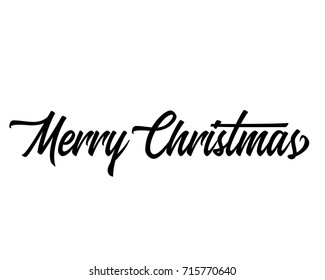 christmas related script phrase word art text vector design for merry christmas one line - Merry Christmas Words