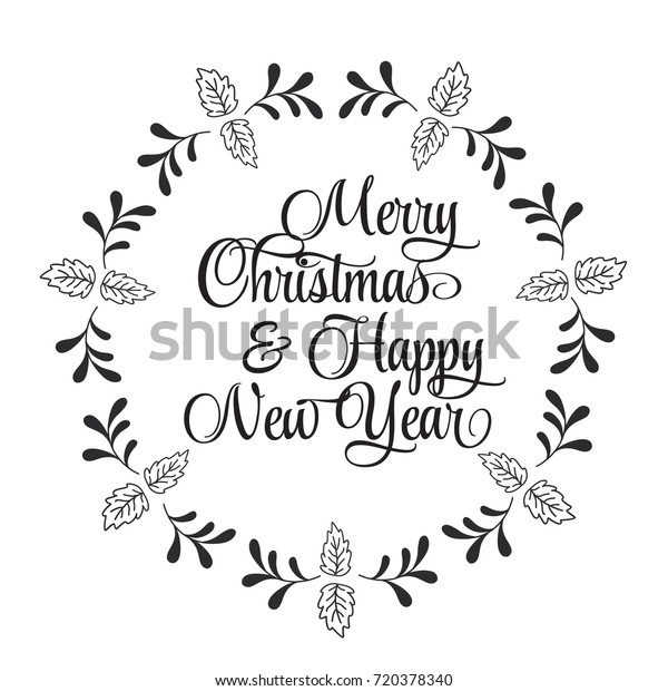 Christmas Related Word Art Design Vector Stock Vector