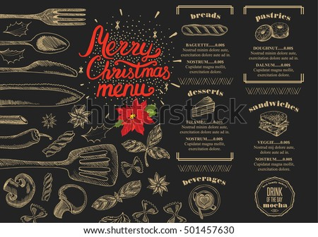 Food menu christmas templates – festival collections.