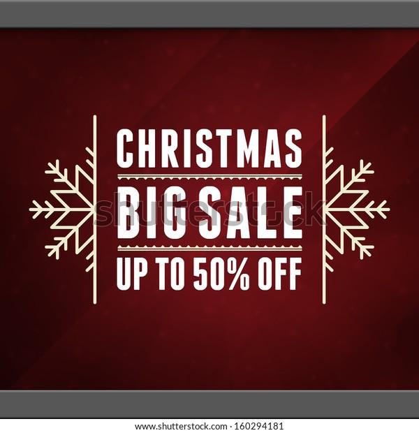 Christmas sale background. Vector illustration Eps 10.