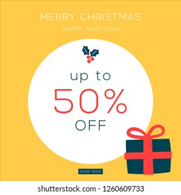 Christmas sale. Christmas banner design. Happy new year eve poster. Christmas cards, headers website. Newsletter designs, ads, coupons, social media banners.