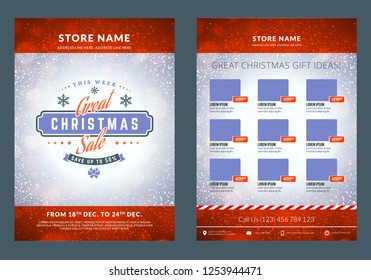 christmas sale catalog design business stationery stock vector