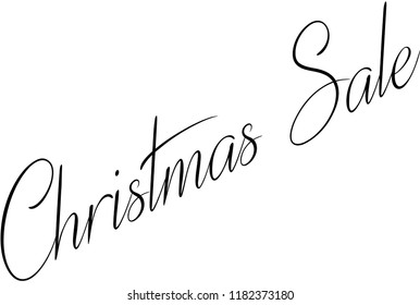 Christmas Sale holiday season text sign illustration on white Background.