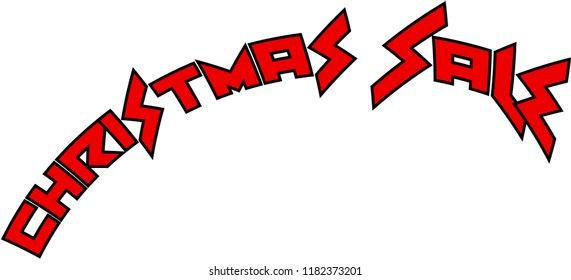 Christmas Sale holiday season text sign illustration on white Background.