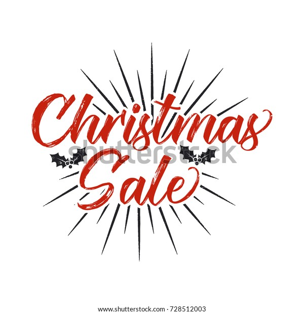 Christmas Sale Lettering Design Typography Elements Stock