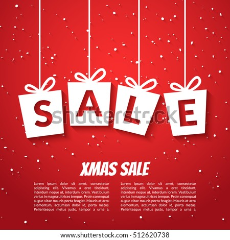 christmas sale poster template xmas sale stock vector royalty free