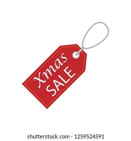 Christmas sale price tag icon. Vector illustration.