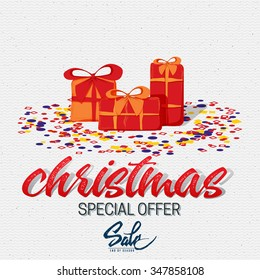 Christmas sale, tag on a shoestring It can be used for product design during the discounts and sales