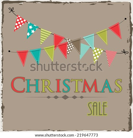 christmas sale template bunting banner on stock vector royalty free