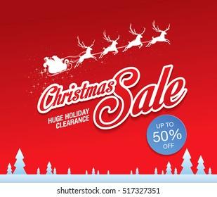 Christmas sale. Vector illustration