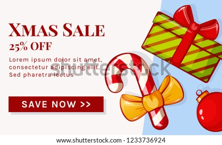 Christmas Sale Web Banner Template Holiday Stock Vector Royalty