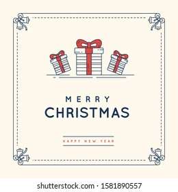 Christmas sale web banners for social media mobile apps. Discount promo layouts for your website, blog and social media posts. Vector illustration.