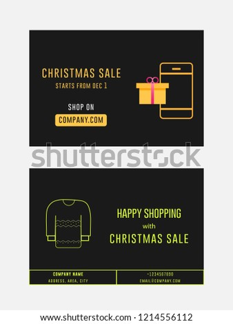 christmas sale winter sale gift card stock vector royalty free