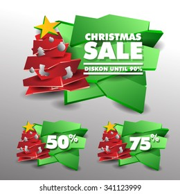 Christmas Sale.Vector Illustration Eps. 10