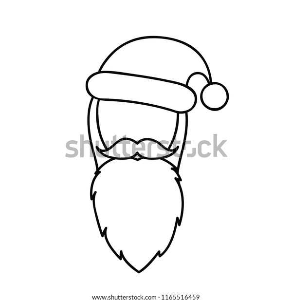 christmas santa claus face line drawing stock vector royalty free 1165516459 https www shutterstock com image vector christmas santa claus face line drawing 1165516459