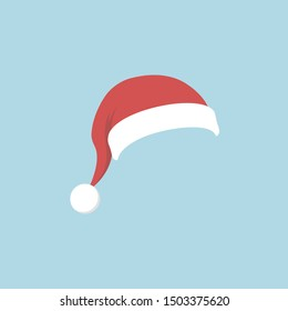 Christmas Santa Claus Hat. Flat style. Vector illustration.