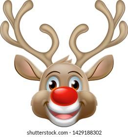 Christmas Santa Claus reindeer red nosed deer cartoon character