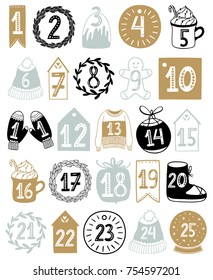 Christmas Scandinavian Advent calendar