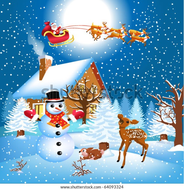 vector-pictures-of-santa claus-riding-his-sleigh-reindeer-clipart-images-HD-pictures.jpg  | Merry christmas images, Merry christmas santa, Merry christmas greetings