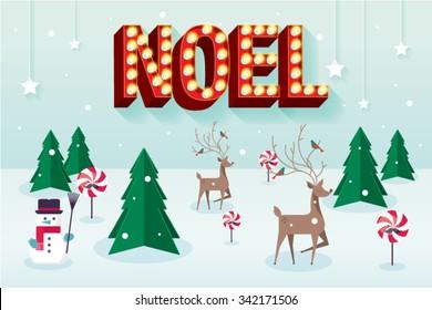 christmas scene vector/illustration