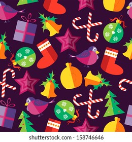 Christmas seamless pattern in a flat style