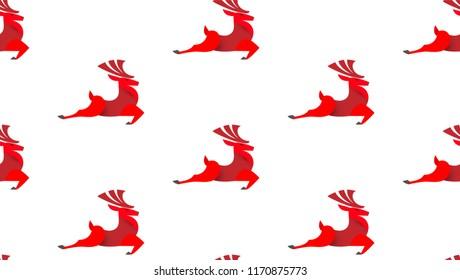 Christmas Seamless Pattern. Happy Holiday Wallpaper. Vector illustration