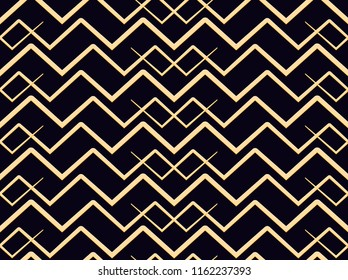 Christmas seamless pattern for scrapbooking, gift paper, background, textile, wallpapper/ gold/ zigzag