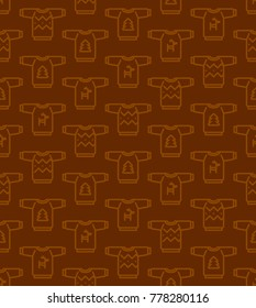 Christmas seamless pattern - Ugly sweaters