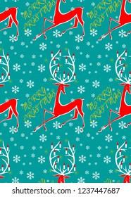 Christmas Seamless Pattern Vintage Background