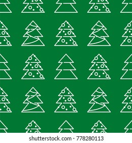 Christmas seamless pattern - Xmas trees