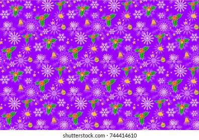 Christmas seamless patterns. Backgrounds with symbols holiday and icons family celebration elements. Winter