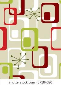 Christmas seasonal  wallpaper - retro 50s seamless pattern