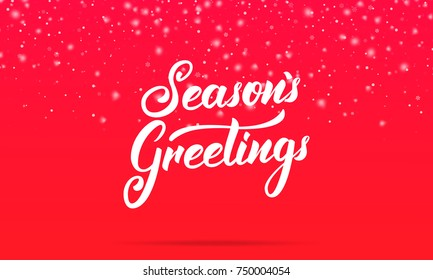 Greeting images stock photos vectors shutterstock seasons greetings lettering design winter holiday card with seasons greetings calligraphy and shiny m4hsunfo