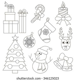 Christmas set to be colored.