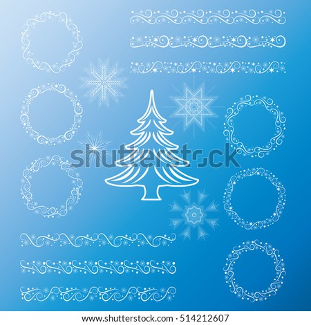 Christmas Set Design Elements Templates Tags Stock Vector Royalty