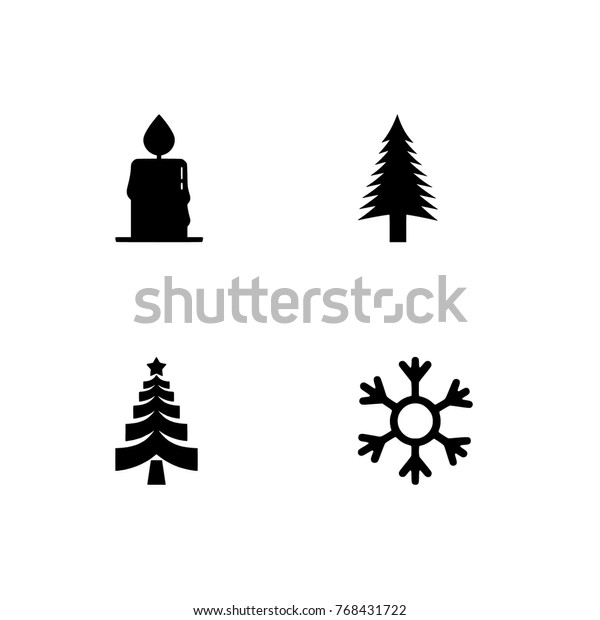 Christmas Holidays Icon.Christmas Set Icon New Year Set Stock Vector Royalty Free