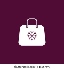 christmas shopping bag icon illustration isolated vector, can be used for web and mobile design
